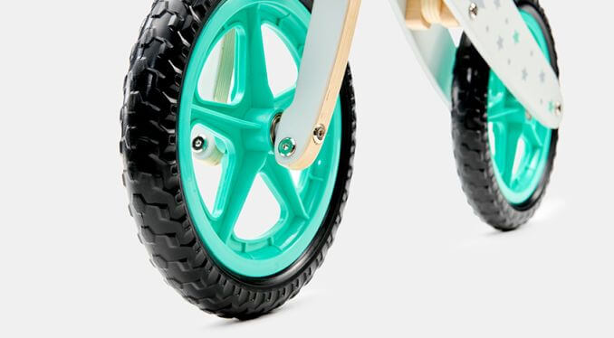 Balans bicikl bez pedala Kindekraft Runner STARS, neprobušivi točkovi