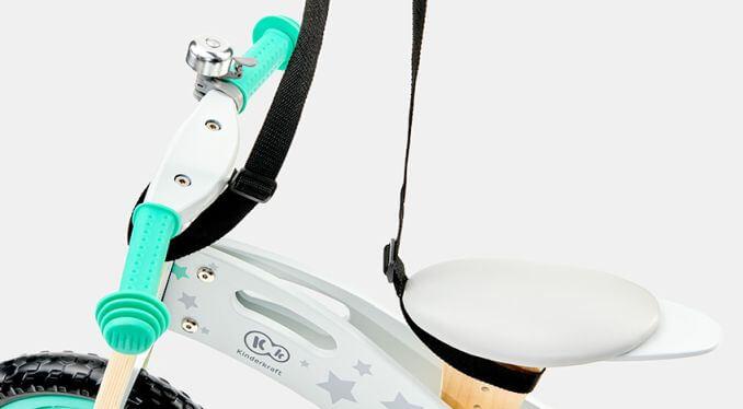 Balans bicikl bez pedala Kindekraft Runner STARS, traka za nošenje