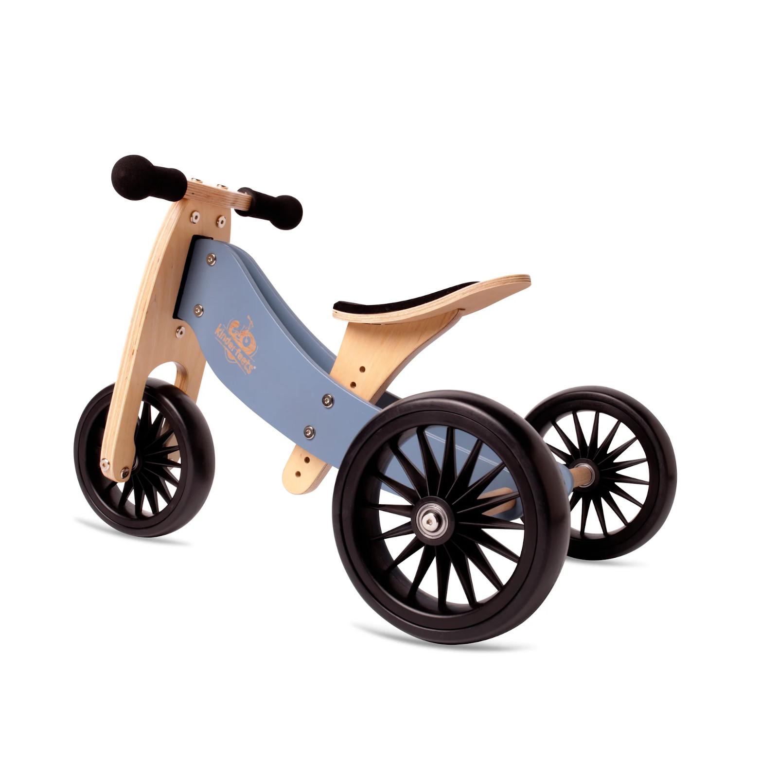 Balans bicikl tricikl Kinderfeets TinyTot Plus Blue, 3 točka
