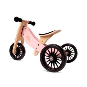 Balans bicikl tricikl Kinderfeets TinyTot Plus Pink, 3 točka