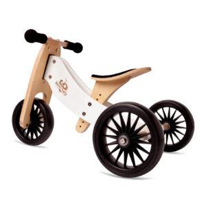 Balans bicikl tricikl Kinderfeets TinyTot Plus White, 3 točka