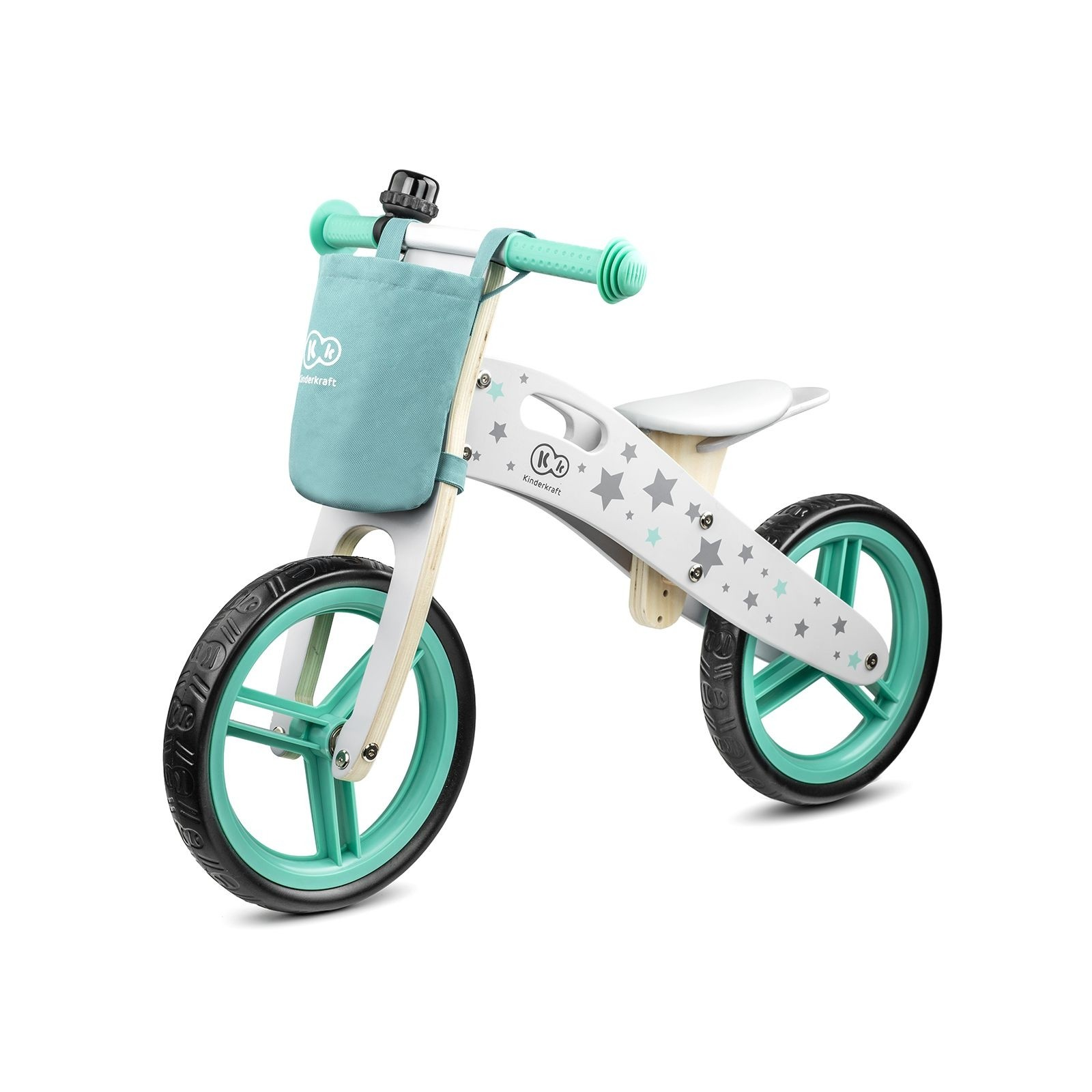 Drveni balans bicikl bez pedala Kinderkraft STARS 2020