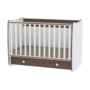Drveni krevetac za bebe Lorelli Bertoni DREAM walnut 10150420026