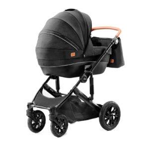 Kindekraft kolica za bebe 2 u 1 PRIME crna, kolevka