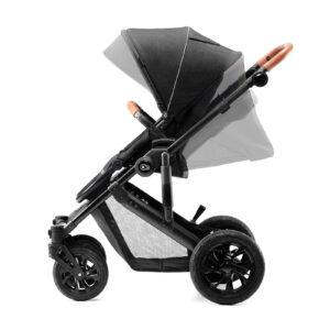 Kindekraft kolica za bebe 2 u 1 PRIME crna, sportsko sedište