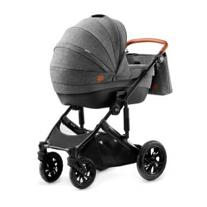 Kindekraft kolica za bebe 2 u 1 PRIME siva, kolevka