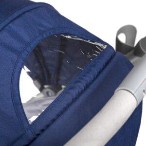 Kindekraft kišobran kolica za bebe PILOT plava, prozor