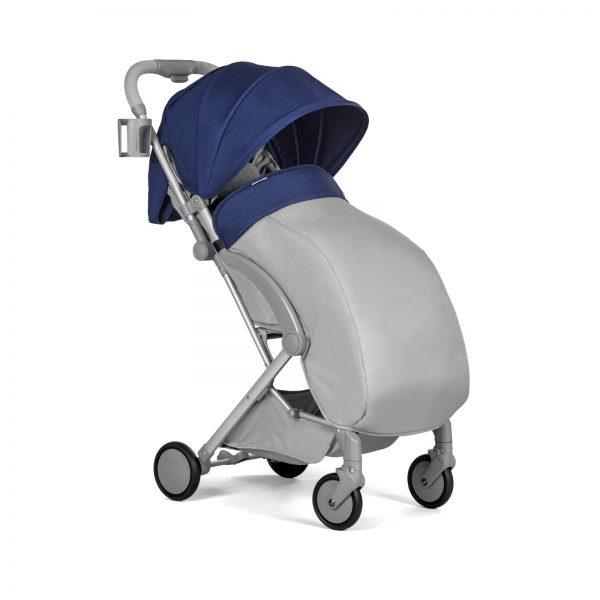 Kindekraft kišobran kolica za bebe PILOT plava zimska presvlaka