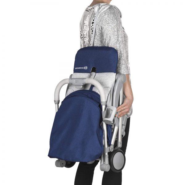 Kindekraft kišobran kolica za bebe PILOT plava na ramenu