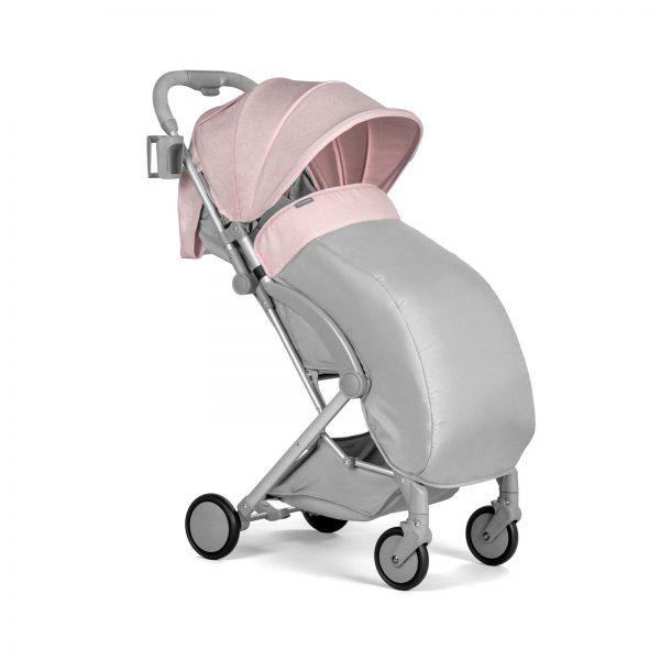 Kindekraft kišobran kolica za bebe PILOT roze, zimska presvlaka