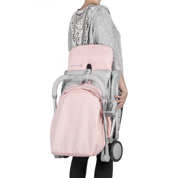 Kindekraft kišobran kolica za bebe PILOT roze, nošenje na ramenu