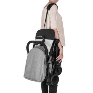 Kindekraft kišobran kolica za bebe PILOT siva, nošenje na ramenu