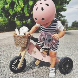 Kinderfeets kaciga za bicikl pink rose