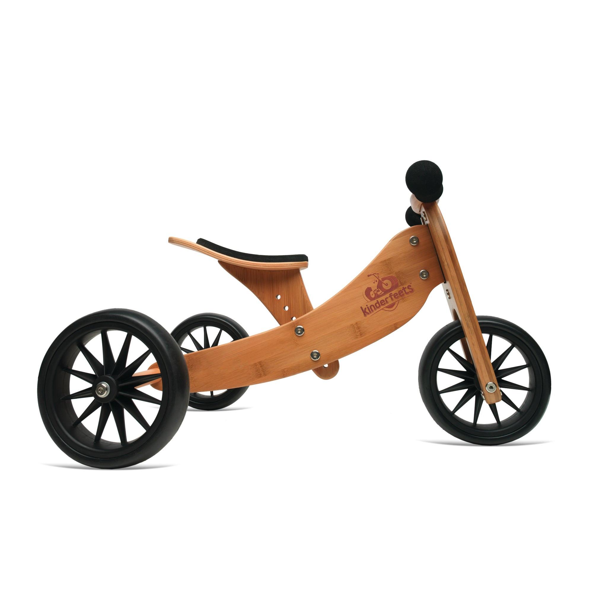 Kinderfefeets Tiny Tot BAMBOO balans bicikl-tricikl