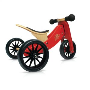 Kinderfefeets Tiny Tot Red balans bicikl-tricikl