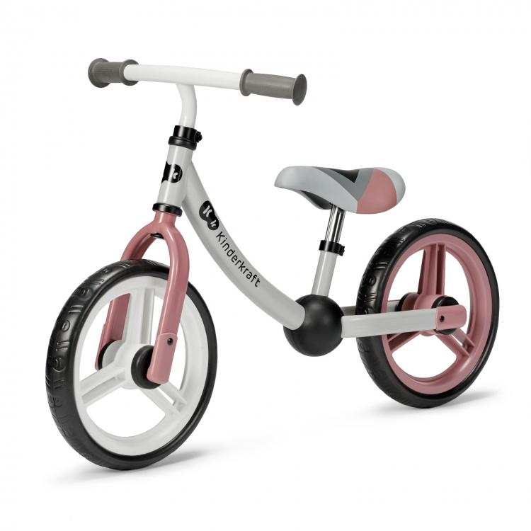 Kinderkraft 2way next 2021 rose pink metalni balans bicikl