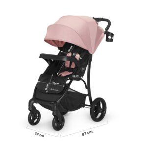 Kinderkraft CRUISER pink kišobran kolica, dimenzije