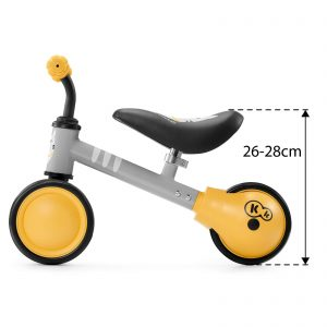 Kinderkraft CUTIE honey balans bicikl bez pedala, dimenzije