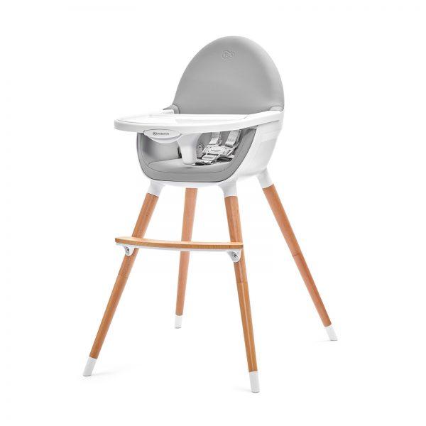Kinderkraft FINI hranilica za bebe, bela, stolica za hranjenje za veću decu