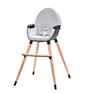 Kinderkraft FINI hranilica za bebe, crna, stolica za hranjenje za veću decu