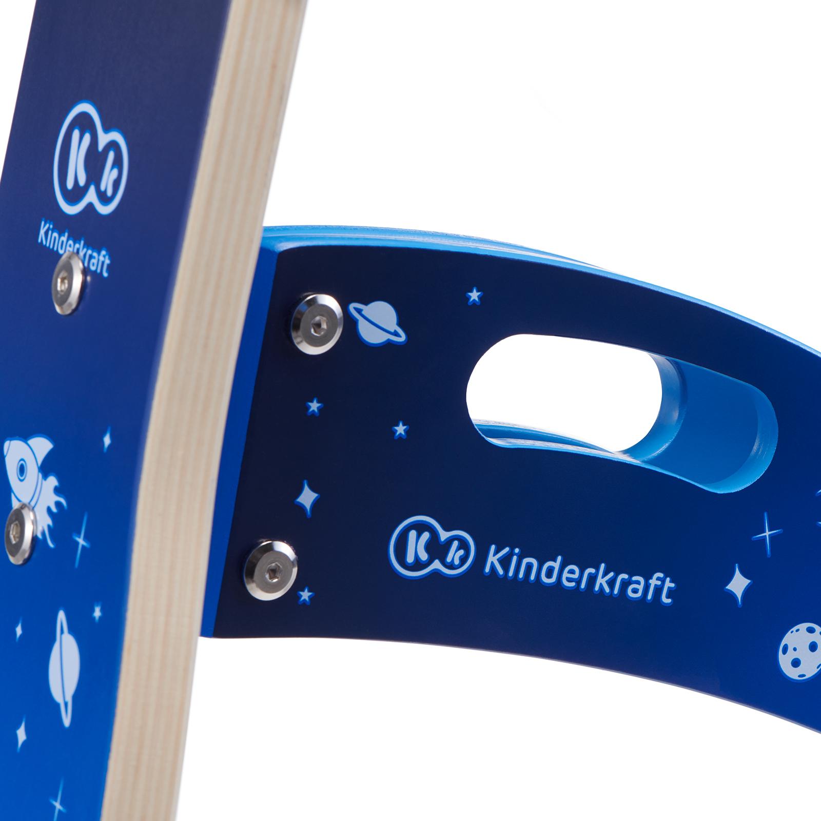 Balans bicikl guralica Kinderkraft GALAXY blue bicikl bez pedala, ručka