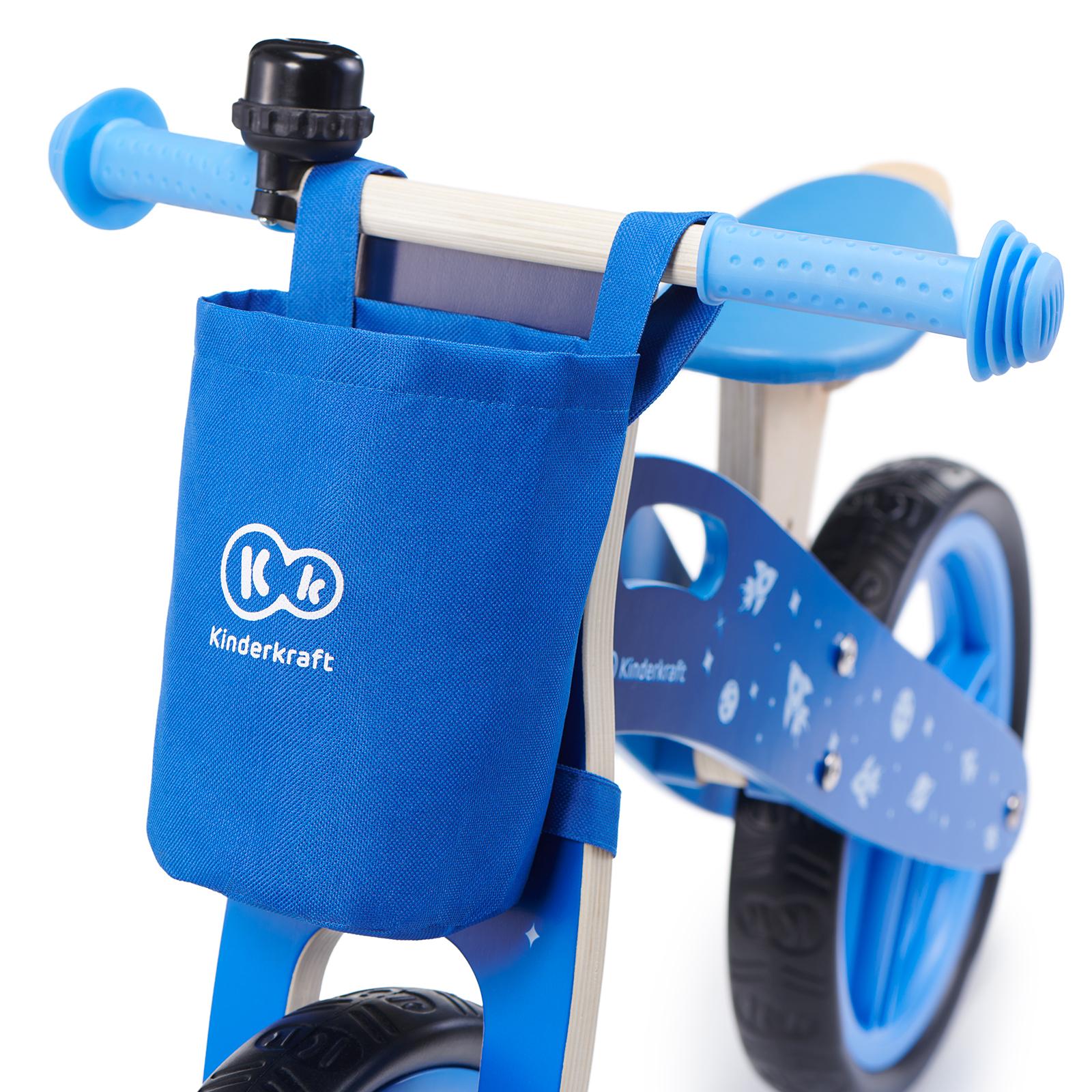 Balans bicikl guralica Kinderkraft GALAXY blue bicikl bez pedala, torbica i zvonce