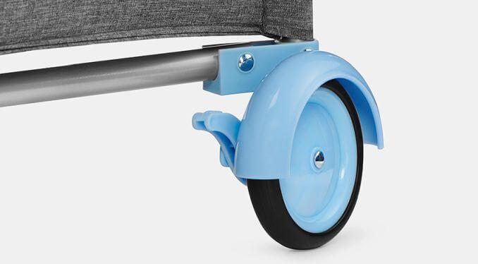 Kinderkraft JOY blue prenosivi krevetac, gumeni točkovi