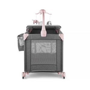 Prenosivi krevetac Kinderkraft JOY pink sa dodacima