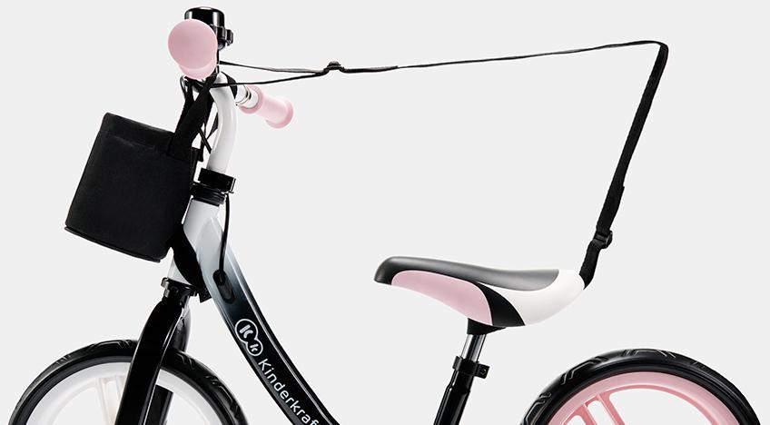 Kinderkraft SPACE pink dečiji bicikl guralica, pojas za nošenje
