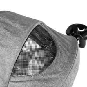 Kinderkraft kišobran kolica LITE siva prozor sa mrežicom