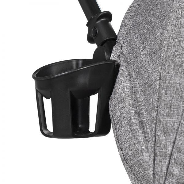 Kinderkraft kišobran kolica LITE siva držač za čašu