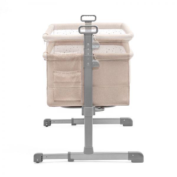 Kinderkraft kolevka krevetac NESTE bež boja, podignuta ili spuštena