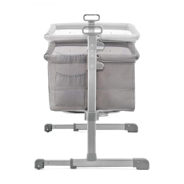Kinderkraft kolevka krevetac NESTE svetlo siva, podignuta ili spuštena