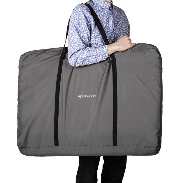 Kinderkraft kolevka krevetac NESTE tamno siva, torba za nošenje