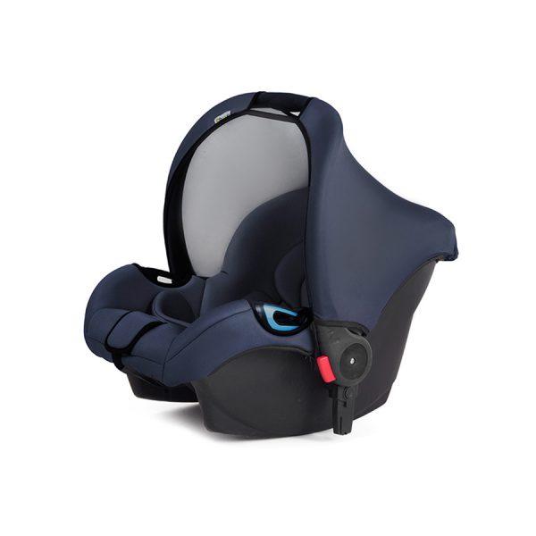 Kinderkraft kolica za bebe 3 u 1 MOOV mornarička plava, nosiljka