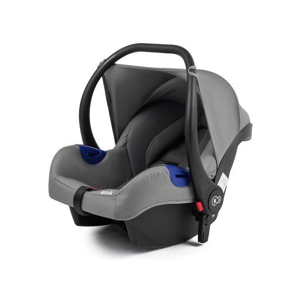 Kinderkraft kolica za bebe 3 u 1 MOOV siva, nosiljka