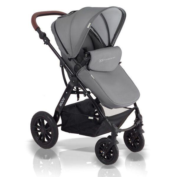 Kinderkraft kolica za bebe 3 u 1 MOOV siva, sportsko sedište