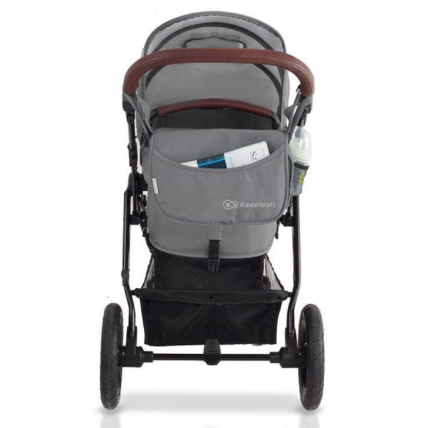 Kinderkraft kolica za bebe 3 u 1 MOOV siva, mama torba