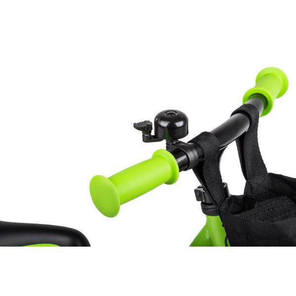 Kinderkraft metalni bicikl 2WAY NEXT zeleni, zvonce i ručke volana