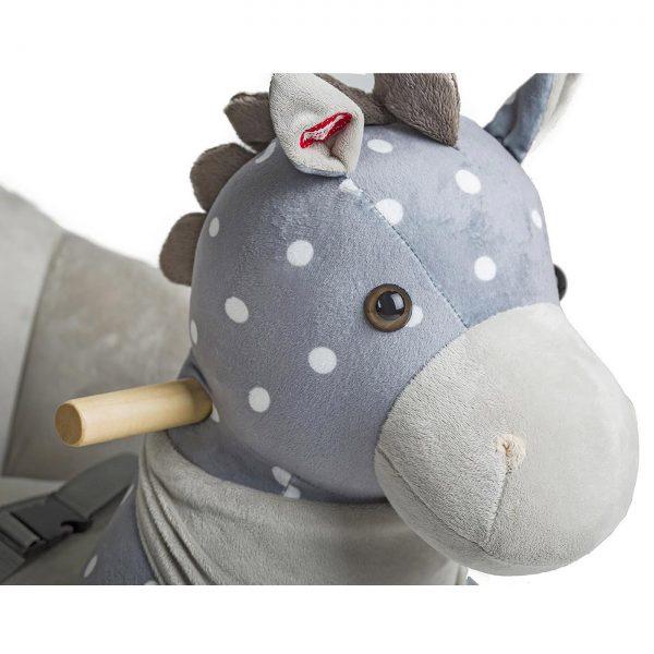 Kinderkraft njihalica klackalica Sivi konj, drške