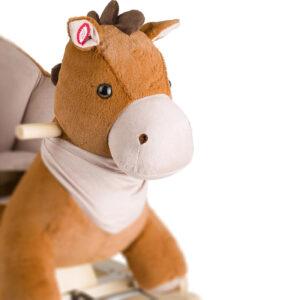 Kinderkraft njihalica klackalica Smeđi konj, ručke