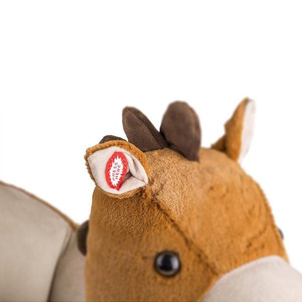 Kinderkraft njihalica klackalica Smeđi konj, dugme