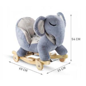 Kinderkraft njihalica klackalica Sivi slon (sivo slonče), dimenzije