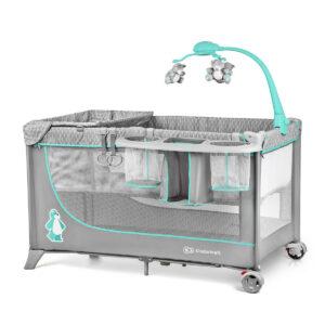 Kinderkraft prenosivi krevetac JOY sa dodacima, plavi