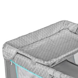 Kinderkraft prenosivi krevetac JOY sa dodacima, plavi, pult za presvlačenje