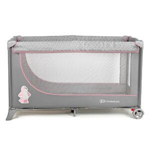 Kindekraft sklopivi prenosivi krevetac JOY, roze