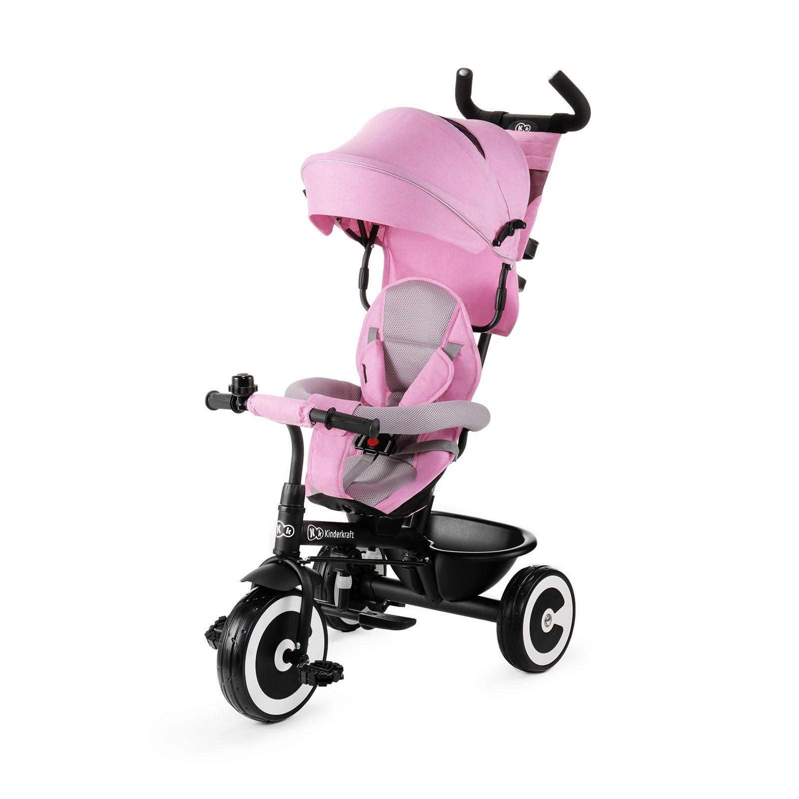 Kinderkraft tricikl guralica ASTON pink