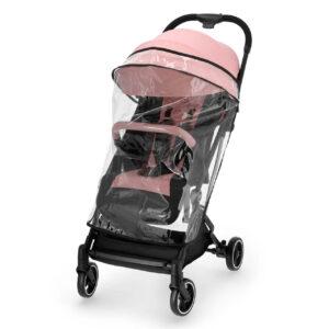 Kišobran kolica Kinderkraft INDY pink, kišna navlaka za kolica
