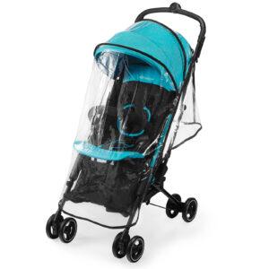 Kišobran kolica Kinderkraft MINI DOT turquoise, kišna navlaka za kolica