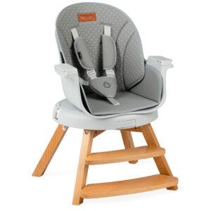 MoMi WOODY grey hranilica stolica za hranjenje